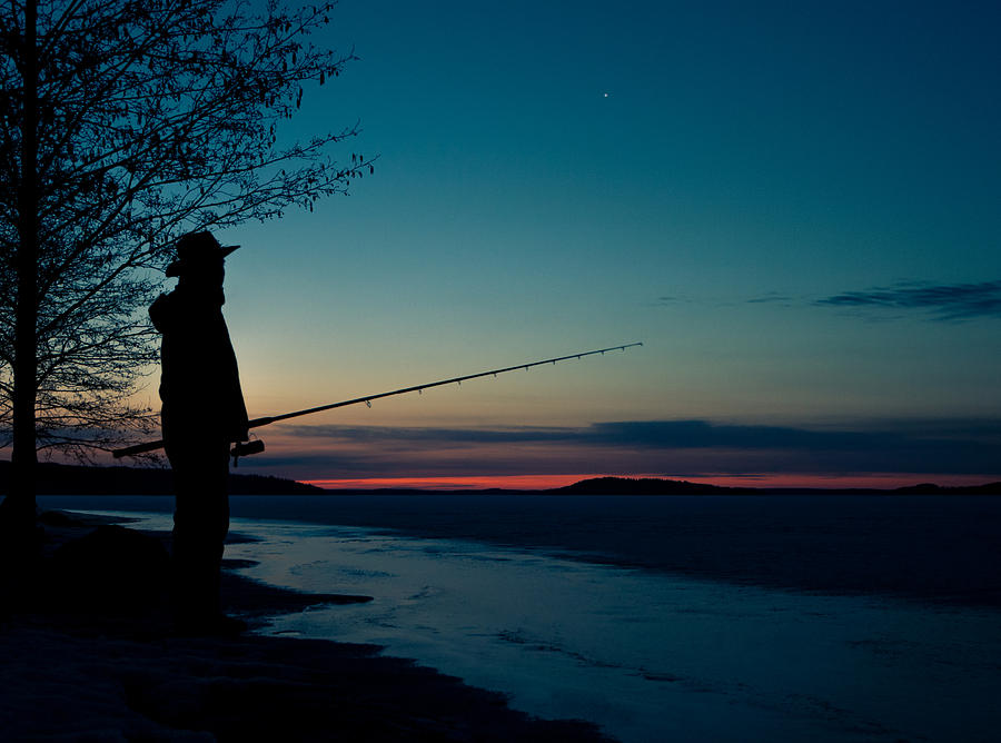 Fishing Photograph - Fisherman And A Star by Janne Mankinen
