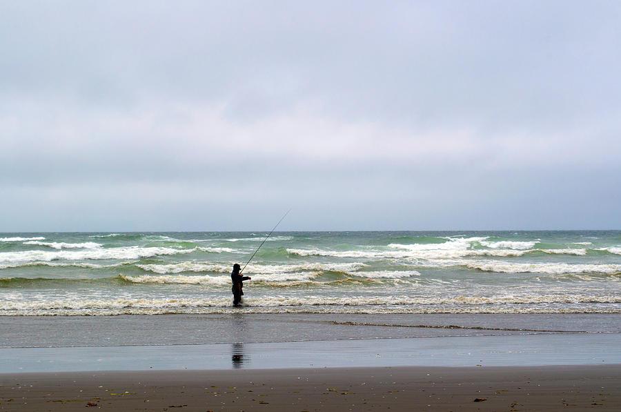 Fisherman Photograph - Fisherman Bracing The Weather by Tikvahs Hope