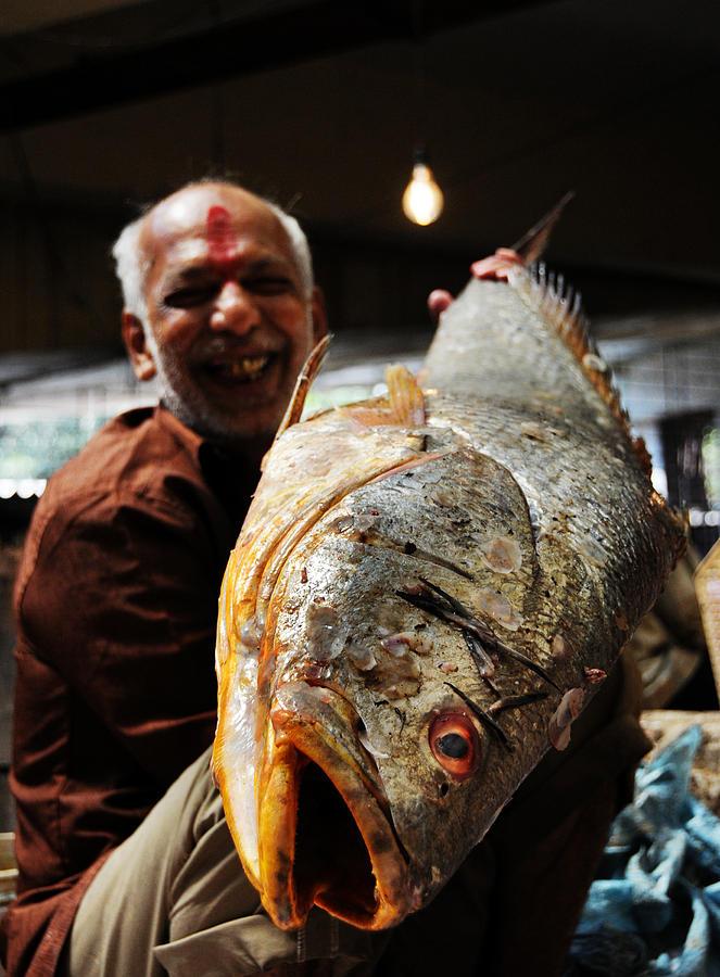 Fish Photograph - Fisherman by Money Sharma