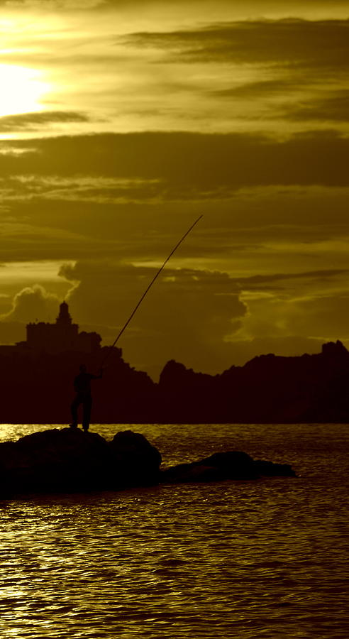 Fishing Photograph - Fisherman  by Riad Belhimer
