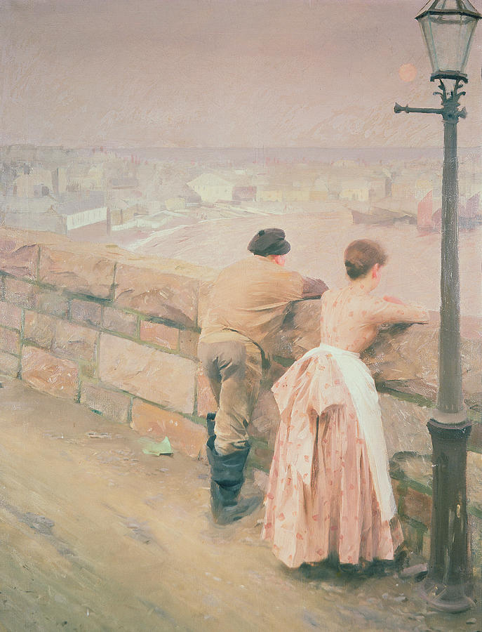 Lamp Post Painting - Fisherman St. Ives by Anders Leonard Zorn