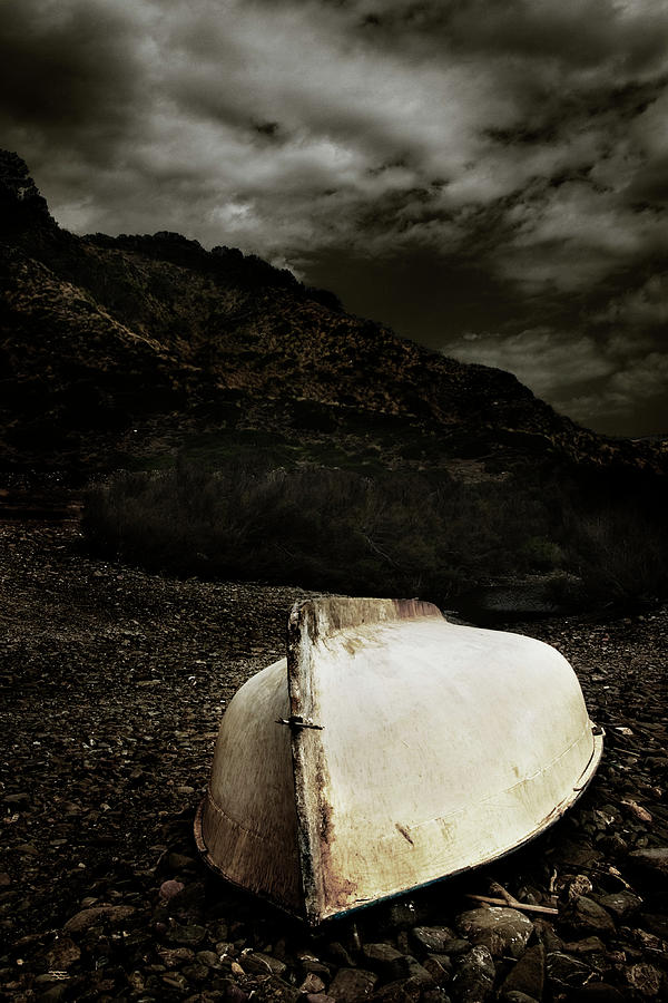 Balearic Islands Photograph - Fishermans Boat Parked On The Beach by Carlos Hernandez
