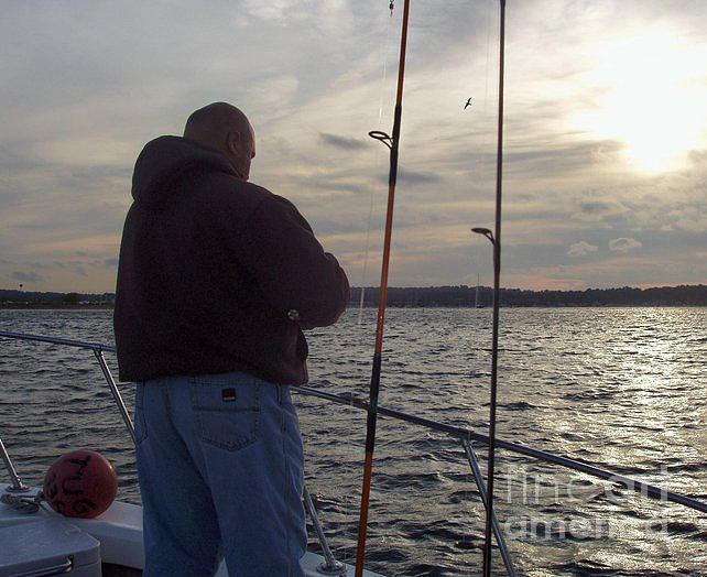 Telfer Photograph - Fishermans Last Cast by John Telfer