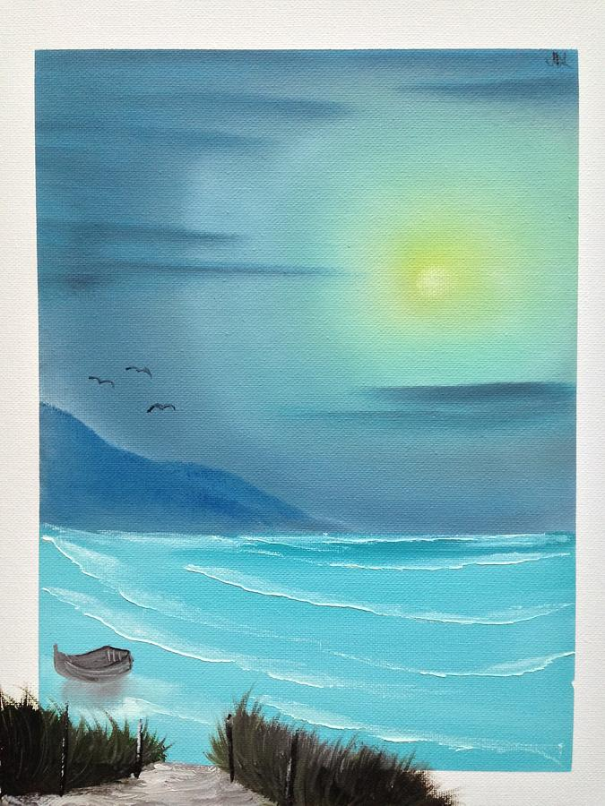 Bob Ross Painting - Fishermans Path by Jesse Loucks