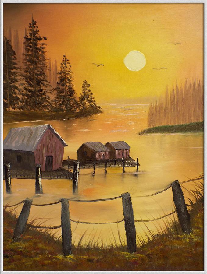 Fish Painting - Fishermans Retreat by Joyce Krenson