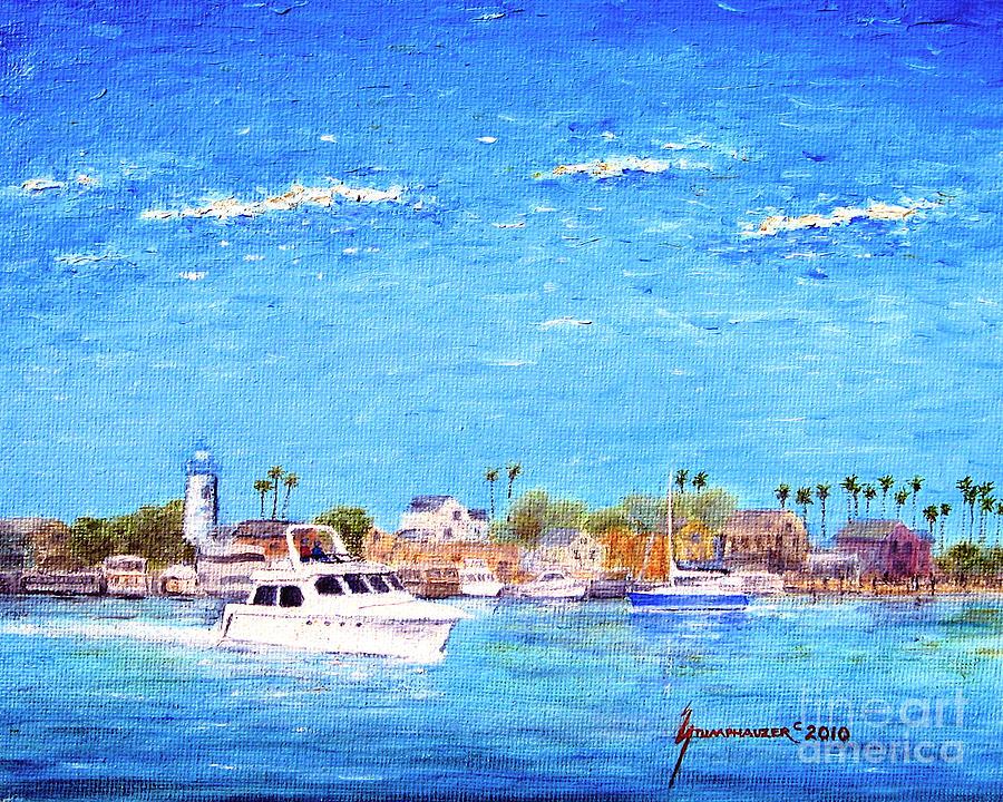 Boat Painting - Fishermans Village by Jerome Stumphauzer