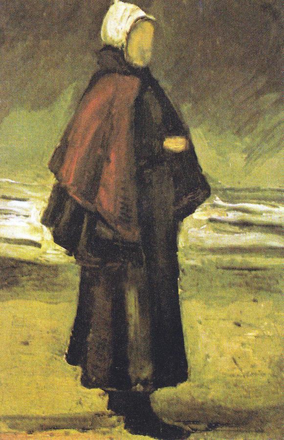 Vincent Van Gogh Digital Art - Fishermans Wife On The Beach by Vincent Van Gogh