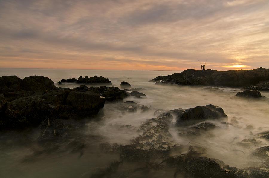 Ocean Photograph - Fishermen by Aaron Bedell
