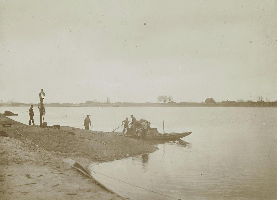 Fishermen Drawing - Fishermen On The Bank Of A River, Henry Pauw Van Wieldrecht by Artokoloro