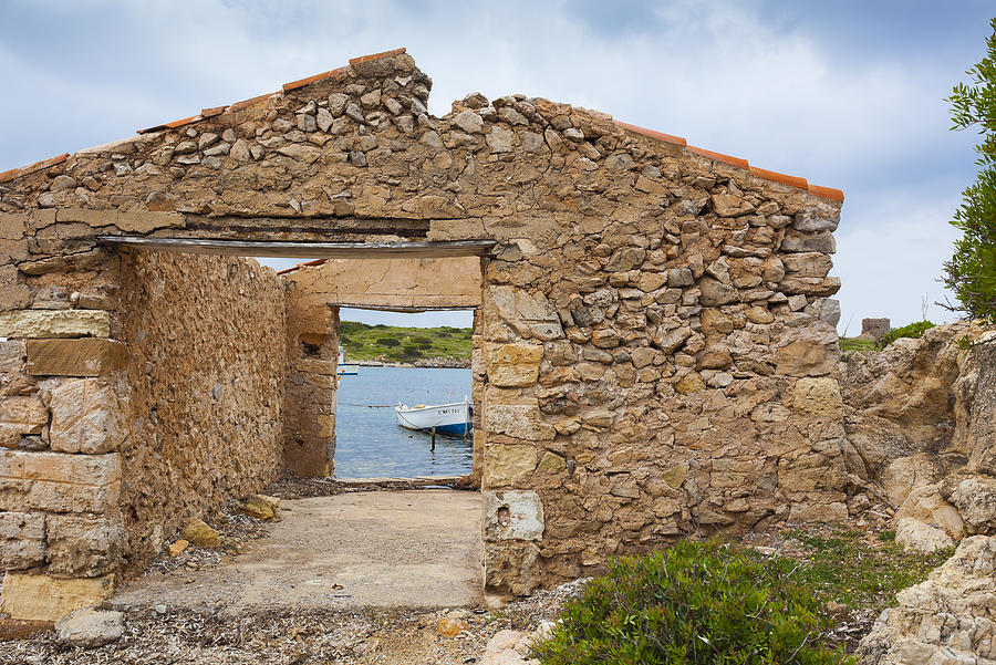 Ruin Photograph - Fishermens House by Antonio Macias Marin