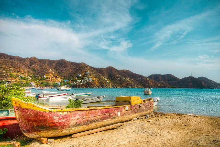 Colombia Photograph - Fishermens Town by Alejandro Tejada