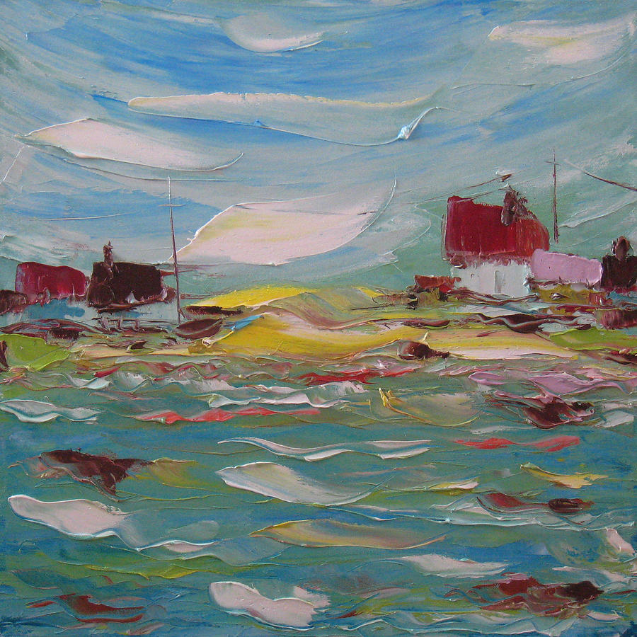 Painting Painting - Fishers Bay by Solomoon Art Studio
