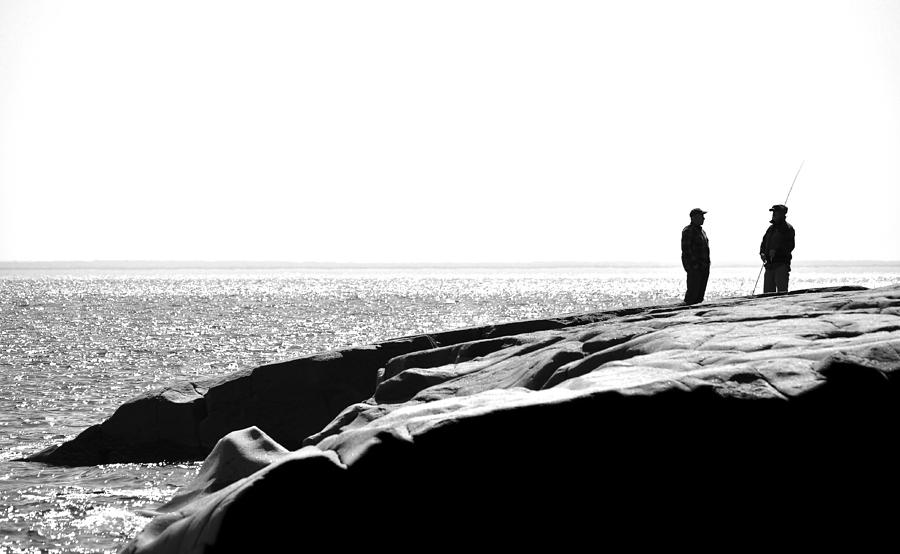 Blumwurks Photograph - Fishers By The Sea by Matthew Blum