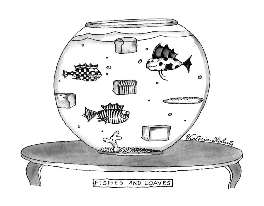 Fishes And Loaves Drawing by Victoria Roberts