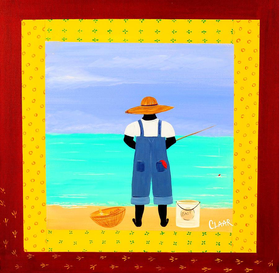 Gullah Painting - Fishin by Samantha Claar