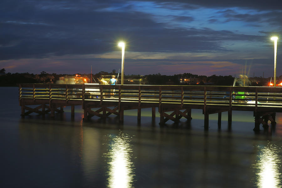 Fishing At Soundside Park In Surf City Photograph