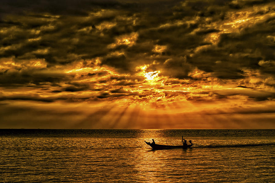 Fishing At Sunset Phil Callan Photography on Home Decor Accessories Online