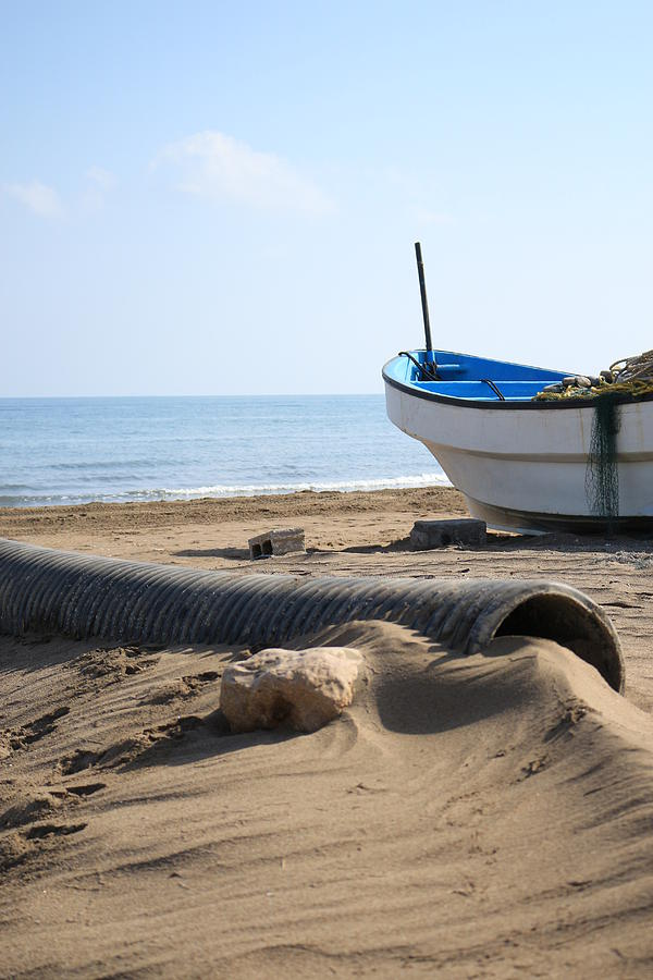 Fishing Boat - Seeb Village - Oman Digital Art by Ibrahim Albalushi