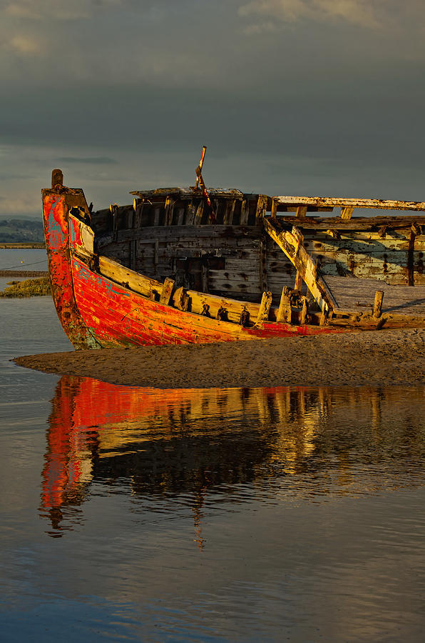 Crow Point Photograph - Fishing Boat At Crow Point - North Devon by Pete Hemington