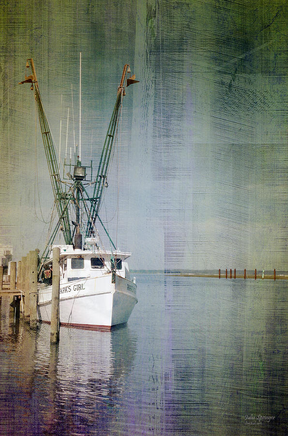 Fishing Boat in Chincoteague by Julia Springer
