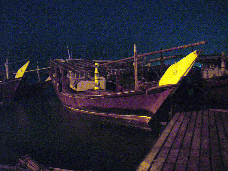 Fishing Boat Photograph - Fishing Boat In The Moon Light by Jack Edson Adams