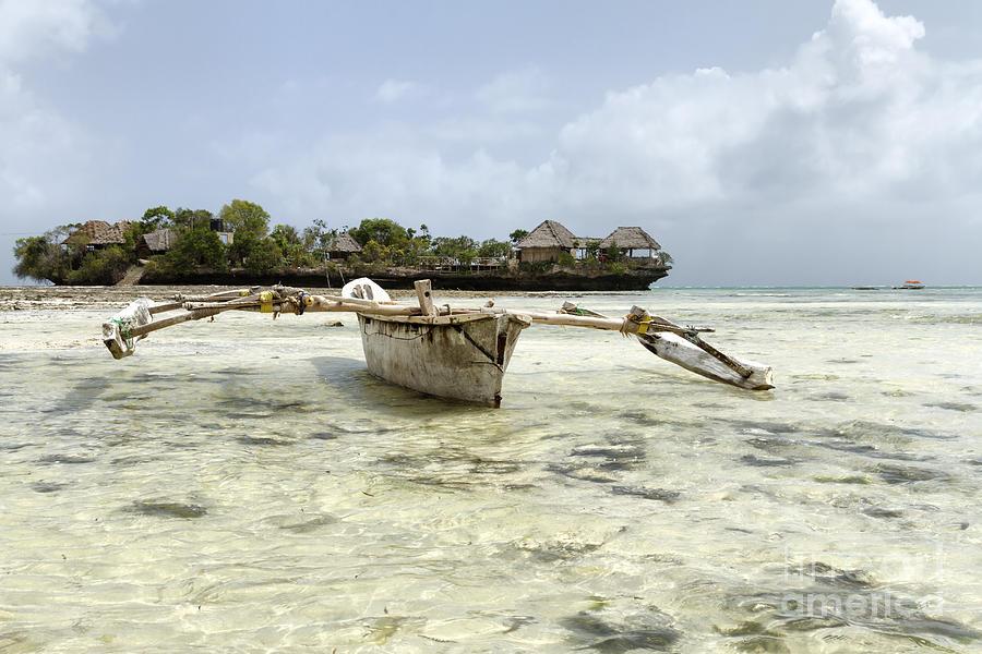 Africa Photograph - Fishing Boat In Zanzibar by Pier Giorgio Mariani