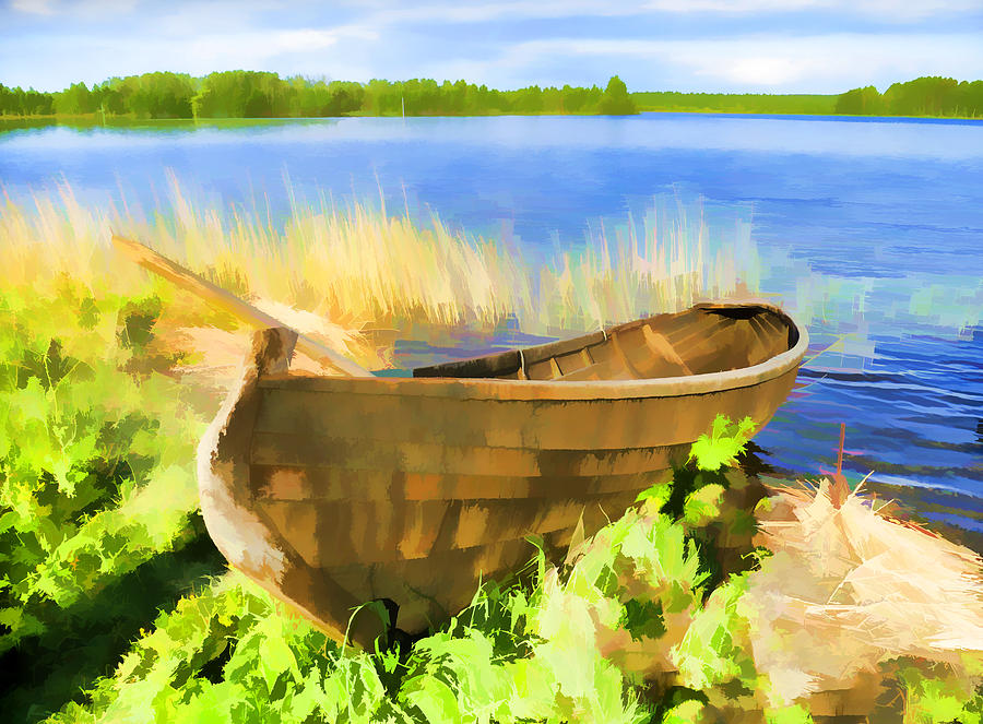 Boat Photograph - Fishing Boat Kizhi Island by Glen Glancy
