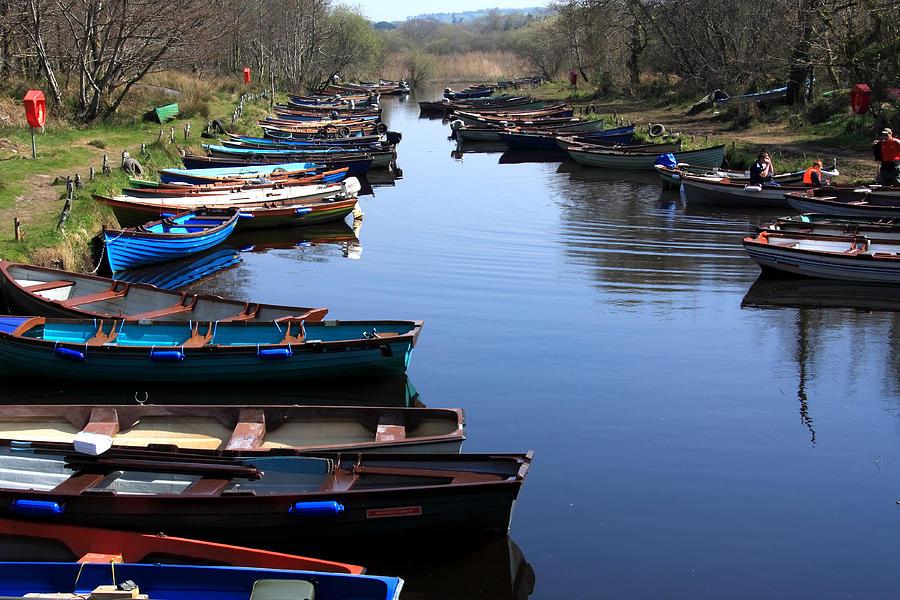 Ireland Photograph - Fishing Boat Row by Aidan Moran