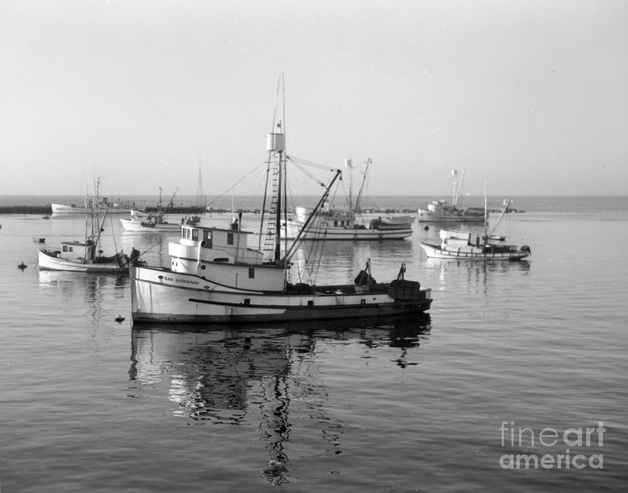 Fishing Photograph - Fishing Boat San Giovanni Monterey Bay California ...