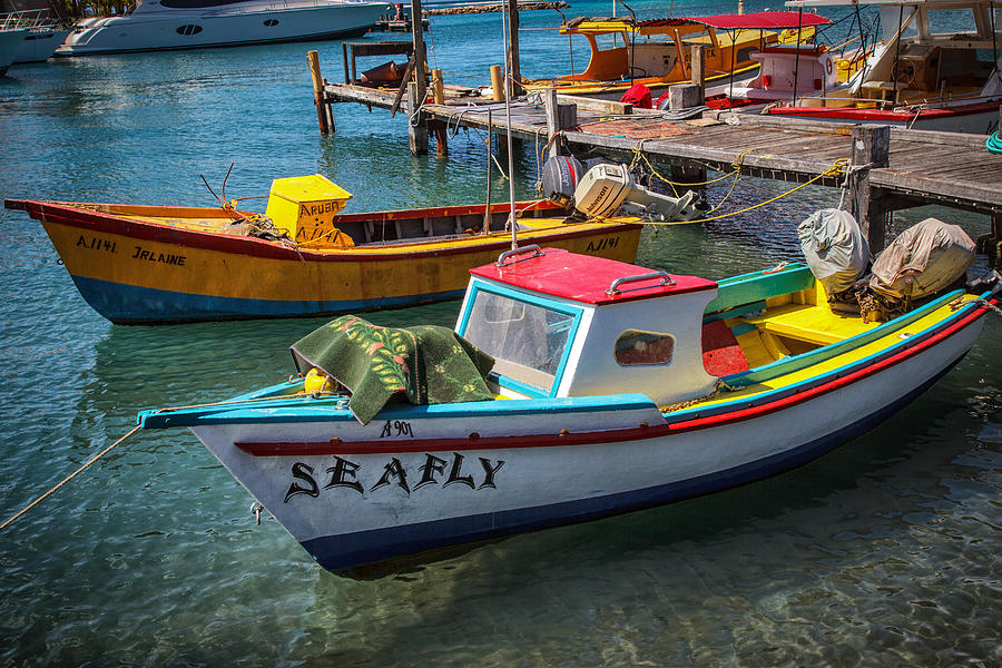 Fishing Boats Aruba by Stephen Kennedy
