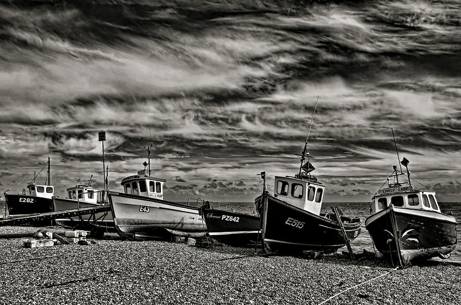 Beer Photograph - Fishing Boats At Beer by Pete Hemington