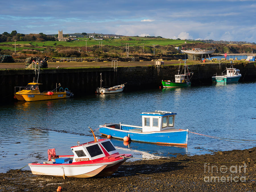 Hayle Photograph - Fishing Boats In The Harbour At Hayle by Louise Heusinkveld