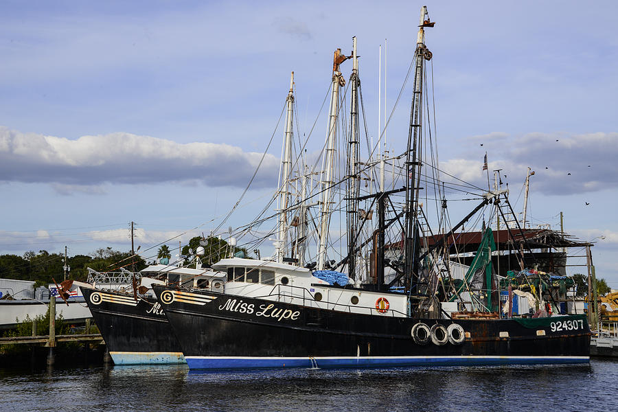Fishing boats miss lupe and miss lexy photograph by jg for Tarpon springs fishing