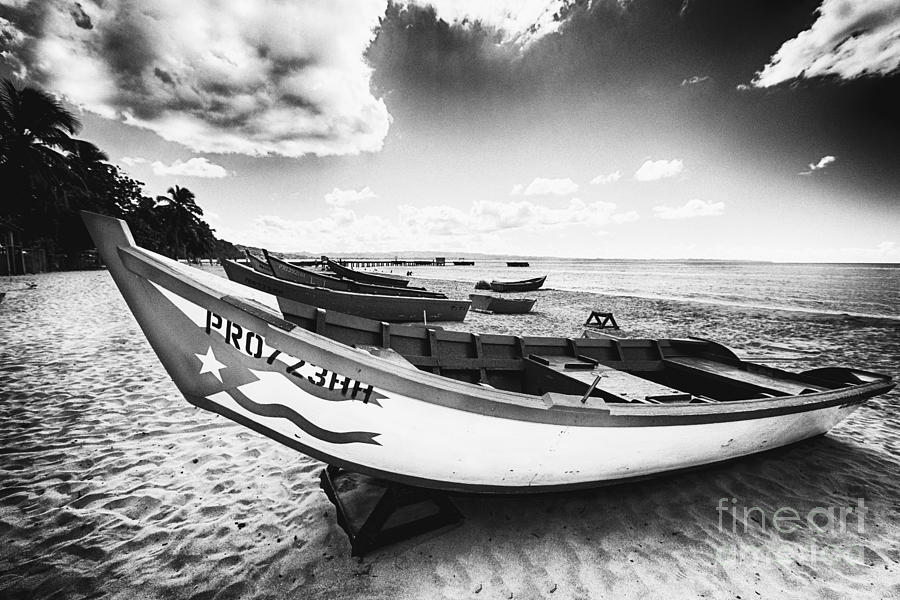 Aguadilla Photograph - Fishing Boats On The Shore by George Oze