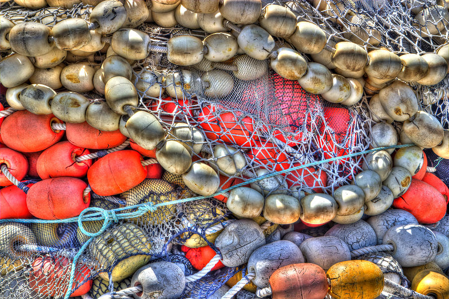 Abstract Photograph - Fishing Bouys by Heidi Smith