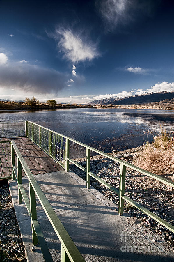 Lake Photograph - Fishing Dock by Cat Connor