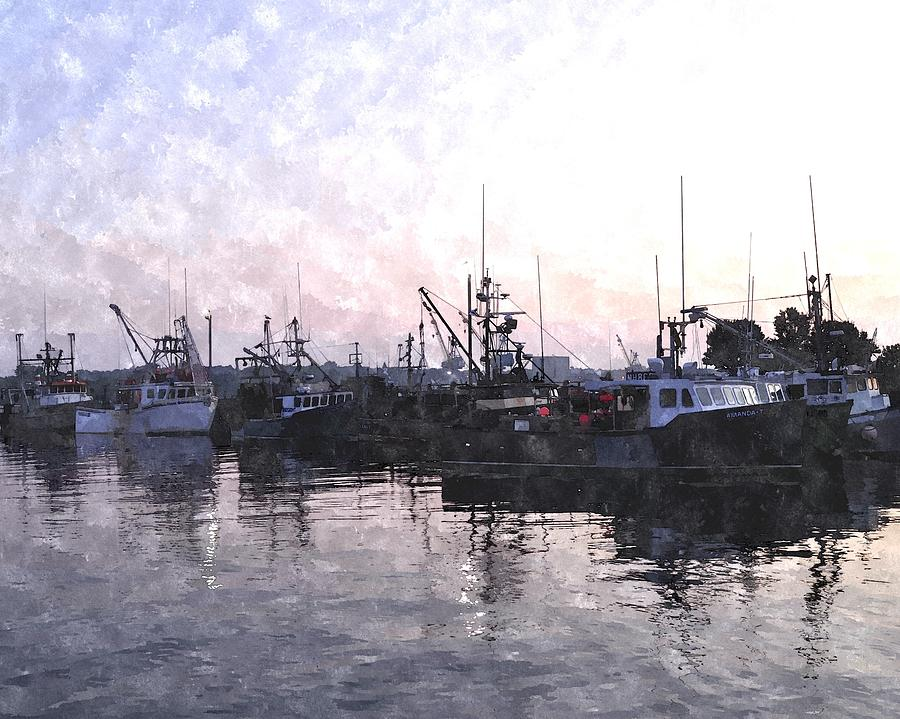 Boat Digital Art - Fishing Fleet Ffwc by Jim Brage