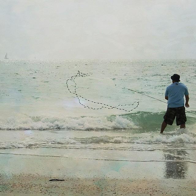 Beautiful Photograph - #fishing #florida #clearwaterbeach by Georgia Fowler