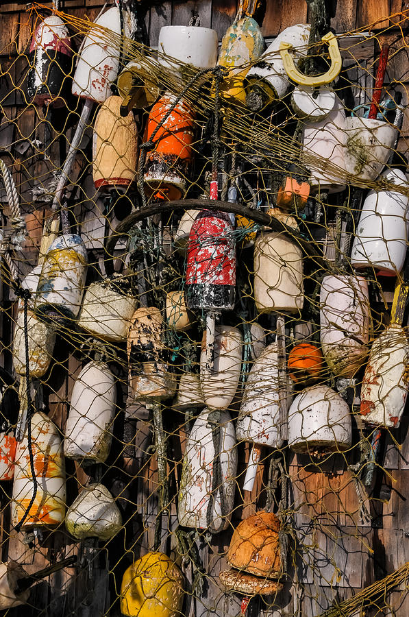 Boey Photograph - Fishing Gear Cape Neddick Maine by Thomas Schoeller