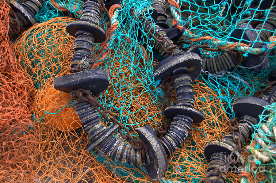 Nets Photograph - Fishing Gear by Joe Cashin