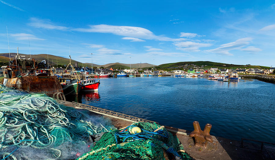 Color Image Photograph - Fishing Harbor, Dingle Harbour, Dingle by Panoramic Images