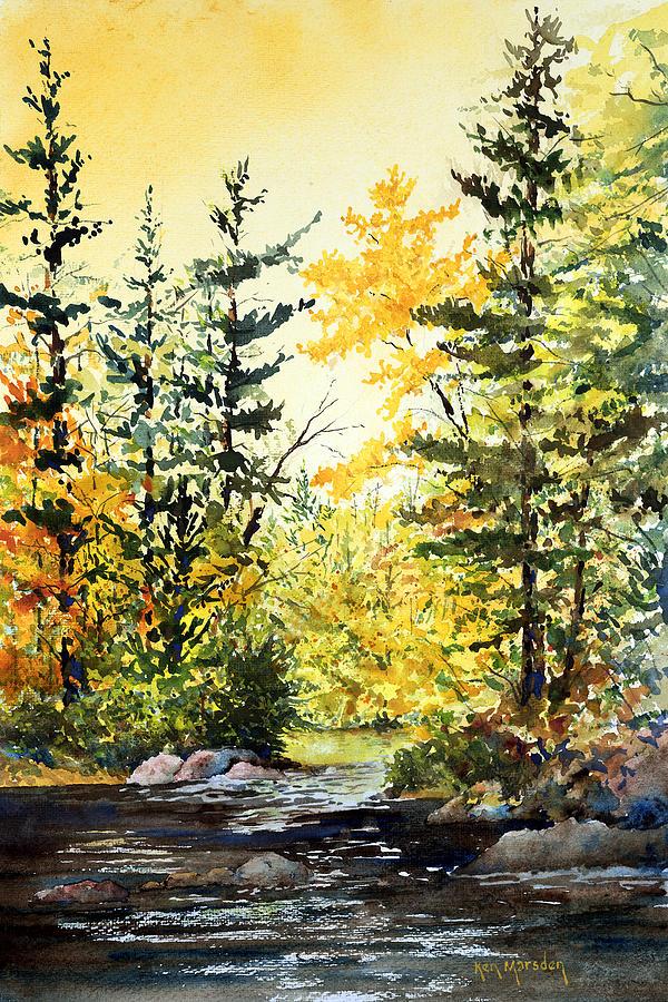 Fishing Hole -Autumn by Ken Marsden