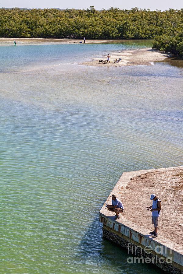 Florida Photograph - Fishing In Estero Bay Near Fort Myers Beach Florida by William Kuta