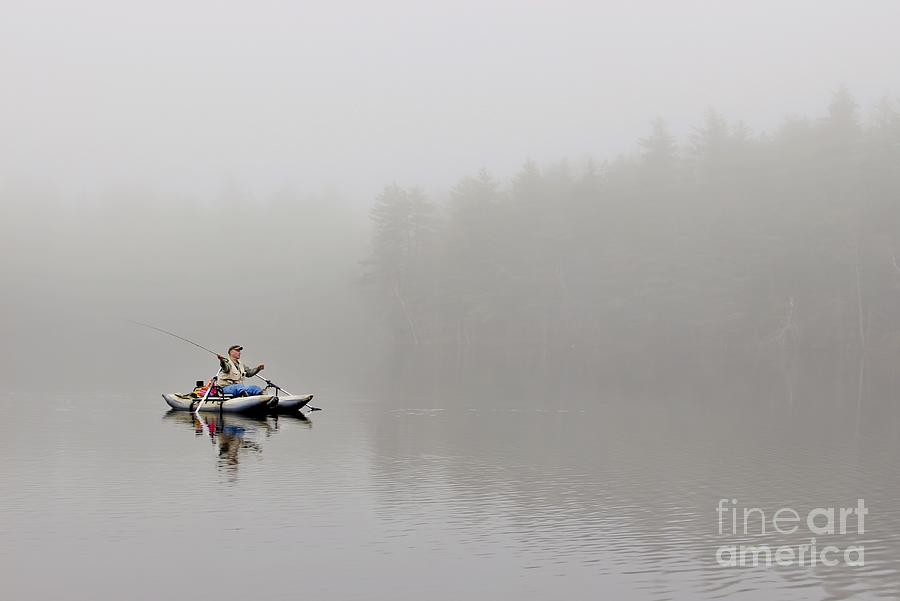 Maine Photograph - Fishing In The Fog by Karin Pinkham