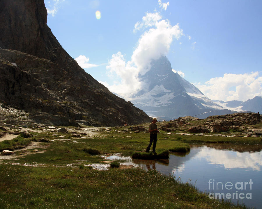 Fishing Photograph - Fishing Lake Matterhorn by Juan Romagosa