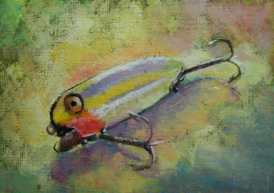 Fishing lure 2 painting by carol jo smidt for Fishing lure paint