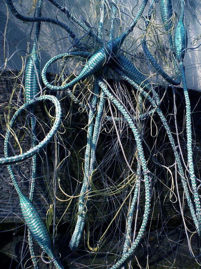 Colette Photograph - Fishing Net Play   by Colette V Hera  Guggenheim