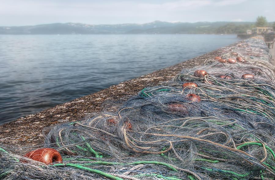Fishing Nets To Dry Photograph - Fishing Nets To Dry by Leonardo Marangi