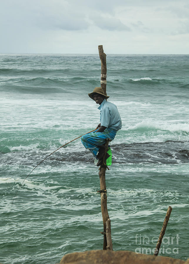 Fishing Photograph - Fishing On A Pole by Patricia Hofmeester