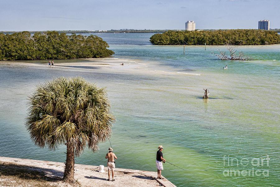 Florida Photograph - Fishing On Estero Bay Near Fort Myers Beach Florida by William Kuta